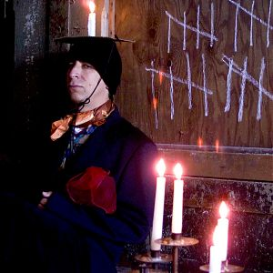 Apology: David Shapiro as Mephistopheles (photo by Kristin Basta)